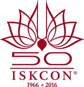 Logomarca do cinquentenário da ISKCON